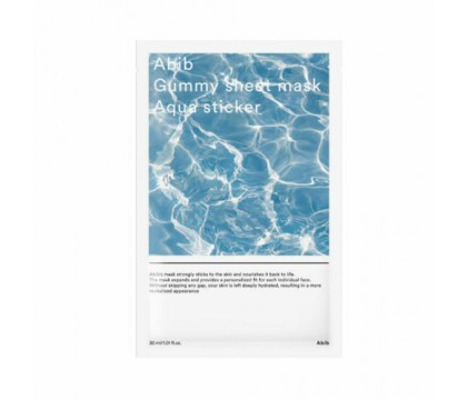 abib gummy sheet mask aqua sticker