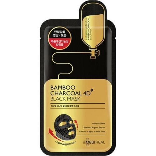 mediheal bamboo charcoal 4d black mask