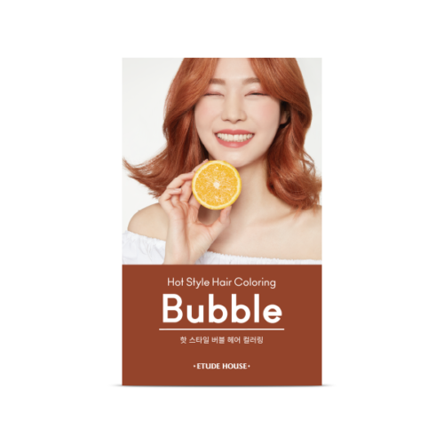 Etude House hot style bubble hair coloring 9O (it may open case prevent from leaking)