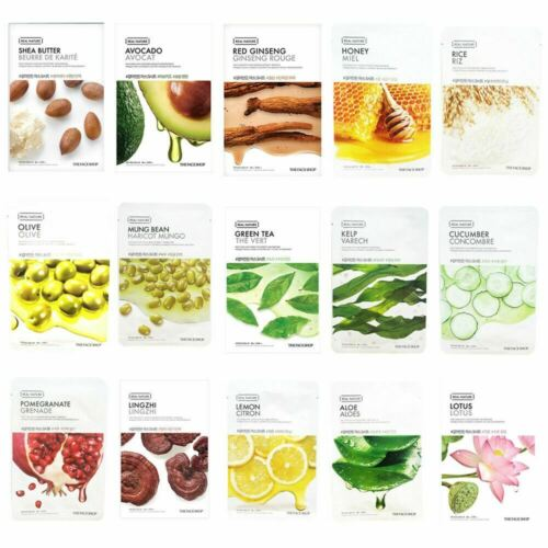 the face shop real nature mask sheet (10 kinds)