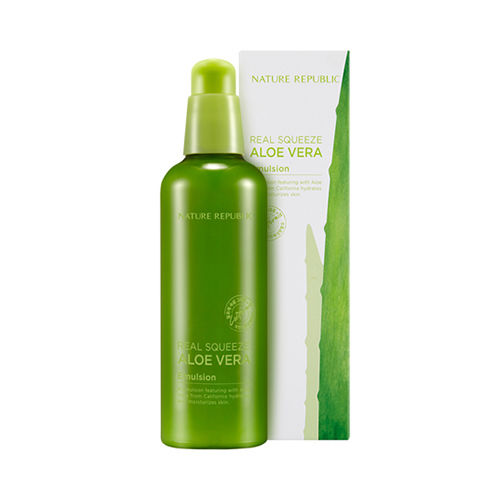 nature republic real squeeze aloe vera emulsion